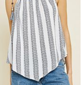Tassel Strap Accent Aztec Top
