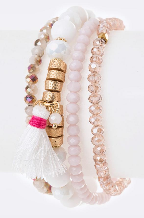 Mix Beads Stretch Bracelet Set