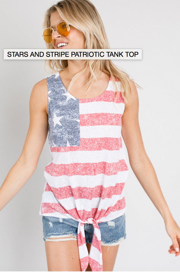 Stars And Stripes Patriotic Tank Top