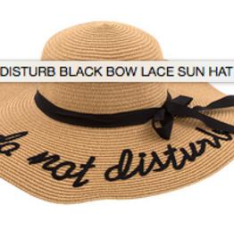 Do Not Disturb Black Bow Lace Sun Hat
