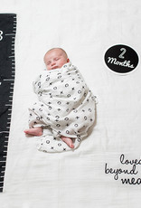 BABY'S FIRST YEAR BLANKET/CARDS -LOVED BEYOND MEAS