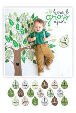 BABY'S FIRST YEAR BLANKET/CARDS -HERE I GROW AGAIN