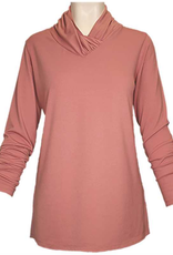 L/S Cross V Neck Top