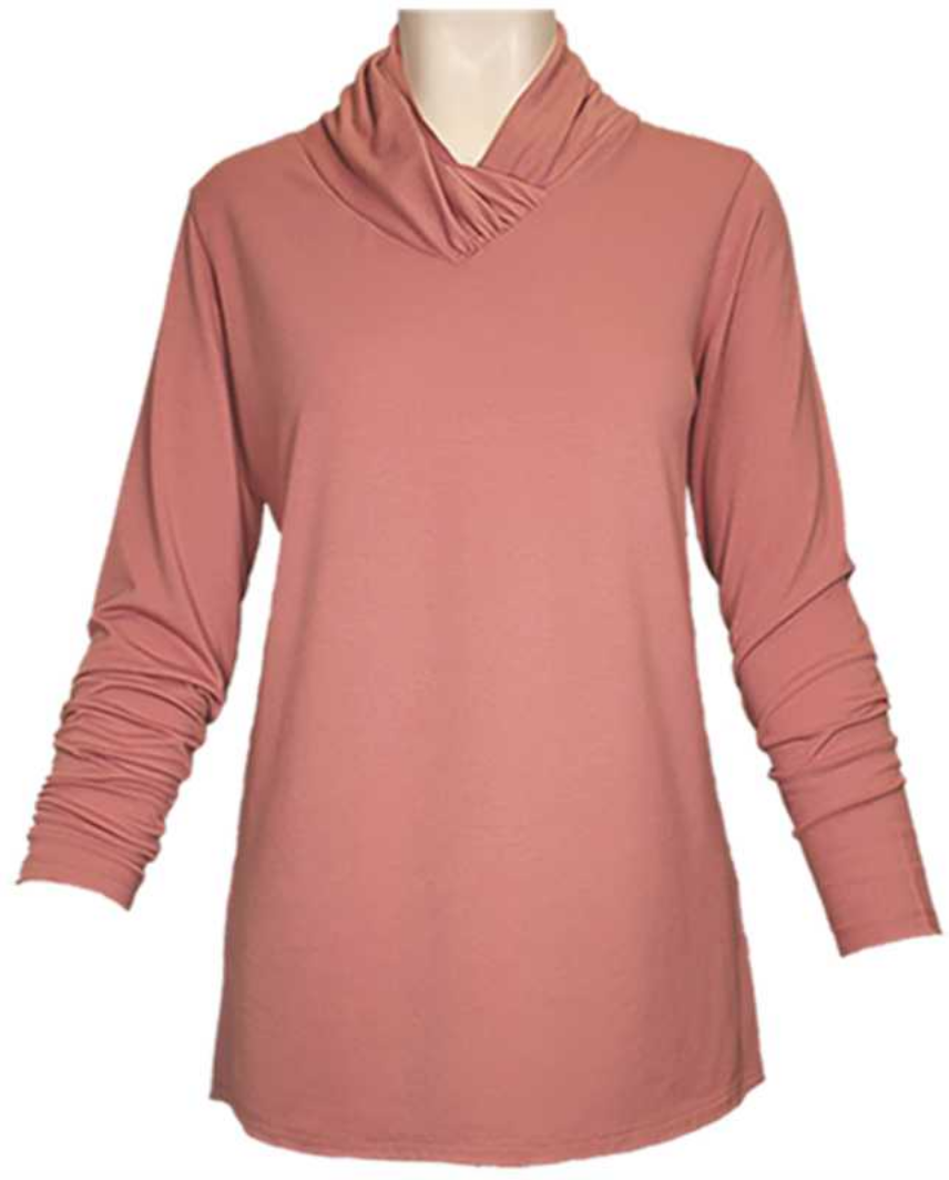 N TOUCH L/S Cross V Neck Top