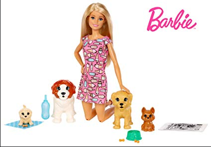 Mattel Barbie Doggy Daycare Doll & Pets