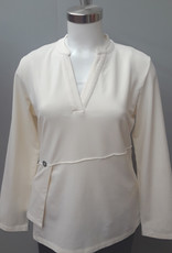 Winter White Side Button Top