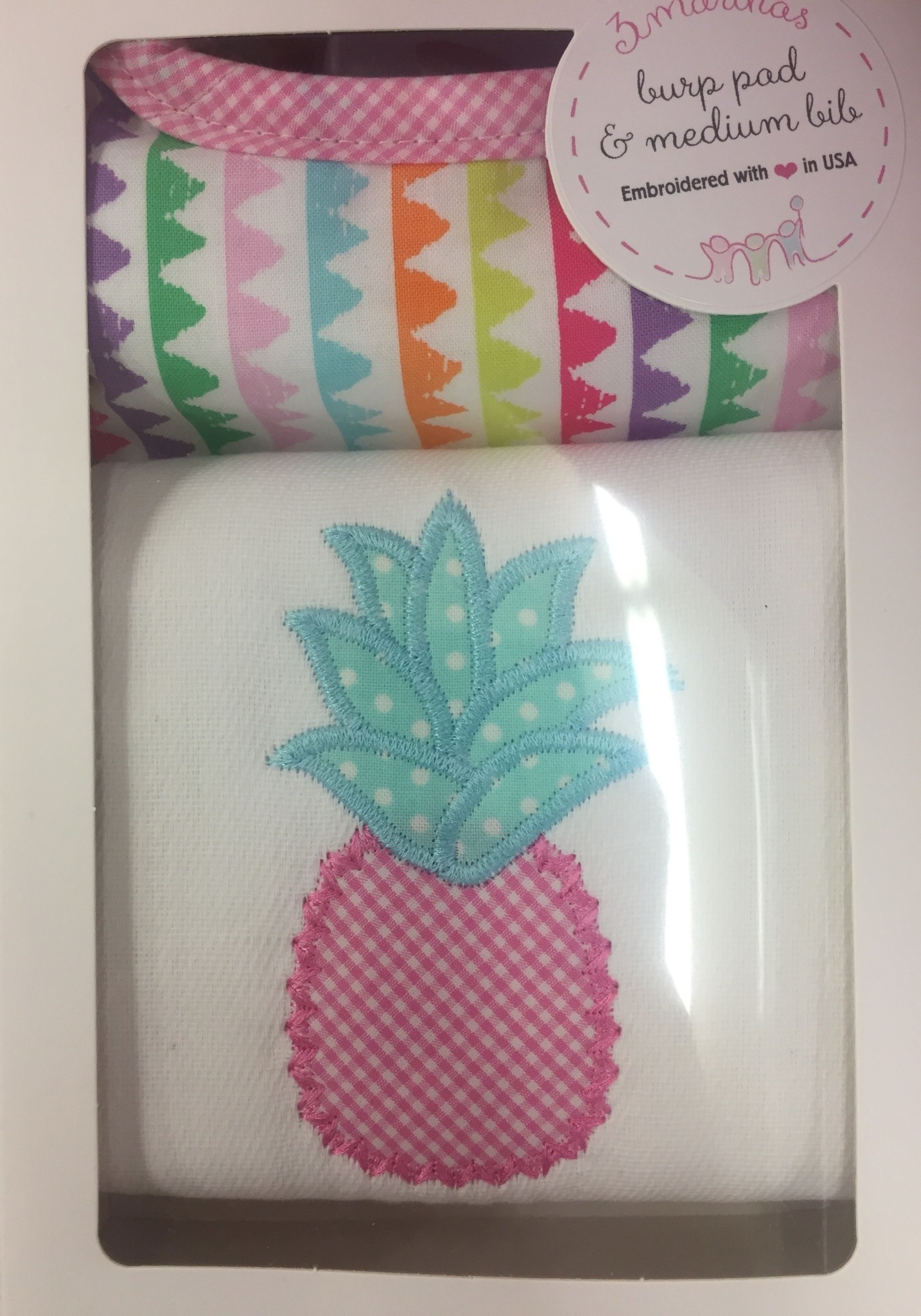 3 Marthas Bib & Burp Gift Set