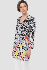 Ladies Tunic, Black/White/Multi 183575