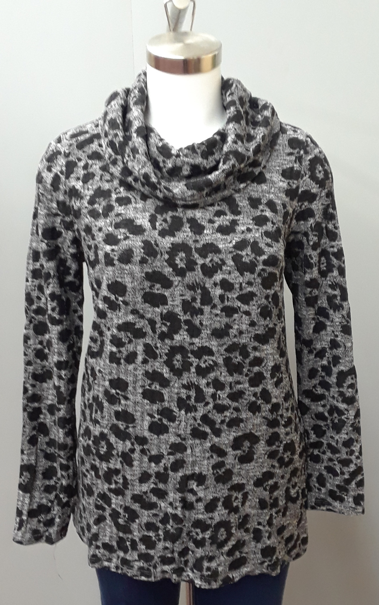TRIBAL L/S Cowl Neck Top