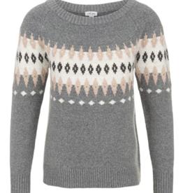 TRIBAL L/S Jaquard Sweater
