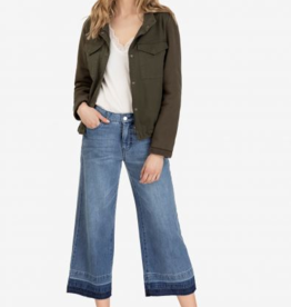 TRIBAL Wide Leg Culotte w/Fayed Hem