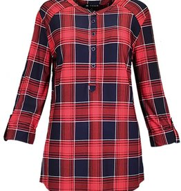 SOUTHERN LADY 3/4 Slv Kian Plaid Top