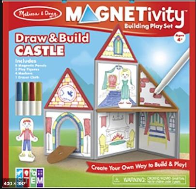 Melissa & Doug Magnetivity - Draw & Build Castle