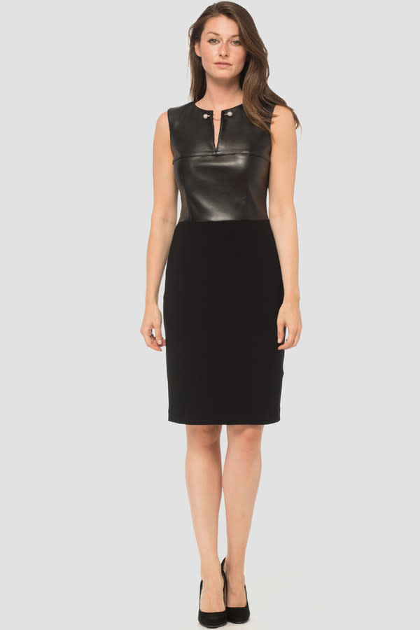 Leatherette Silky Dress