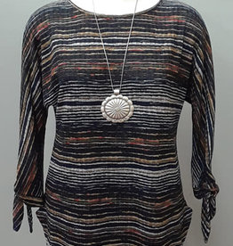 Pure Essence Stripe Top Crinkle Wave