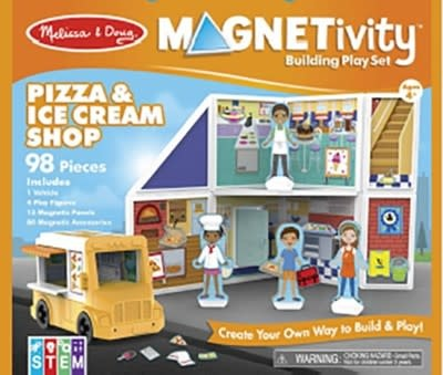 Melissa & Doug Magnetivity - Pizza & Ice Cream Shop