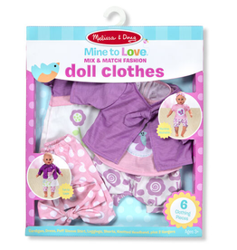 Melissa & Doug Mine to Love Mix & Match Fashion Doll Clothes