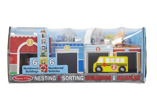 Melissa & Doug Nesting & Sorting Buildings & Vehicles