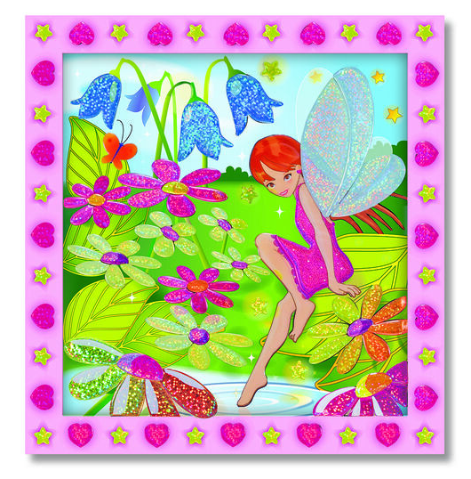 Melissa & Doug Peel & Press Stickers by Numbers - Flower Garden Fairy