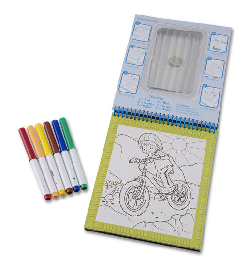 Melissa & Doug Color By Numbers-Blue