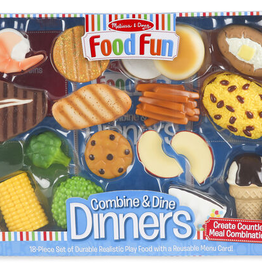 Melissa & Doug Food Fun Combine & Dine Dinners - Blue