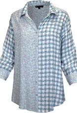N TOUCH 3/4 Slv Nandi Print Challis Shirt