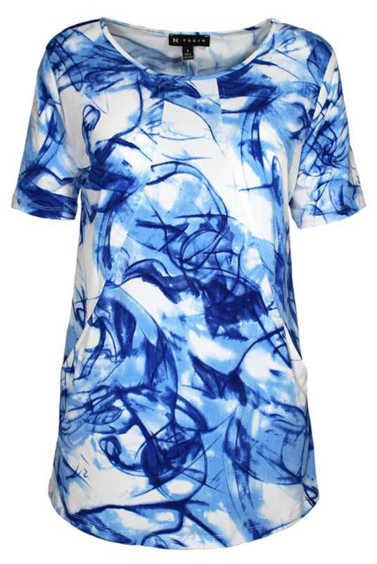 SOUTHERN LADY Short Sleeve Paola Print Top