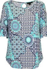 N TOUCH Short Sleeve Printed Top