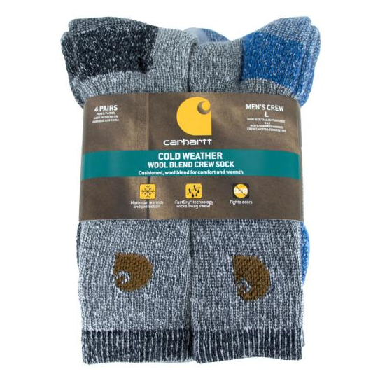 Carhartt Men's Thermal 4-Pack Socks