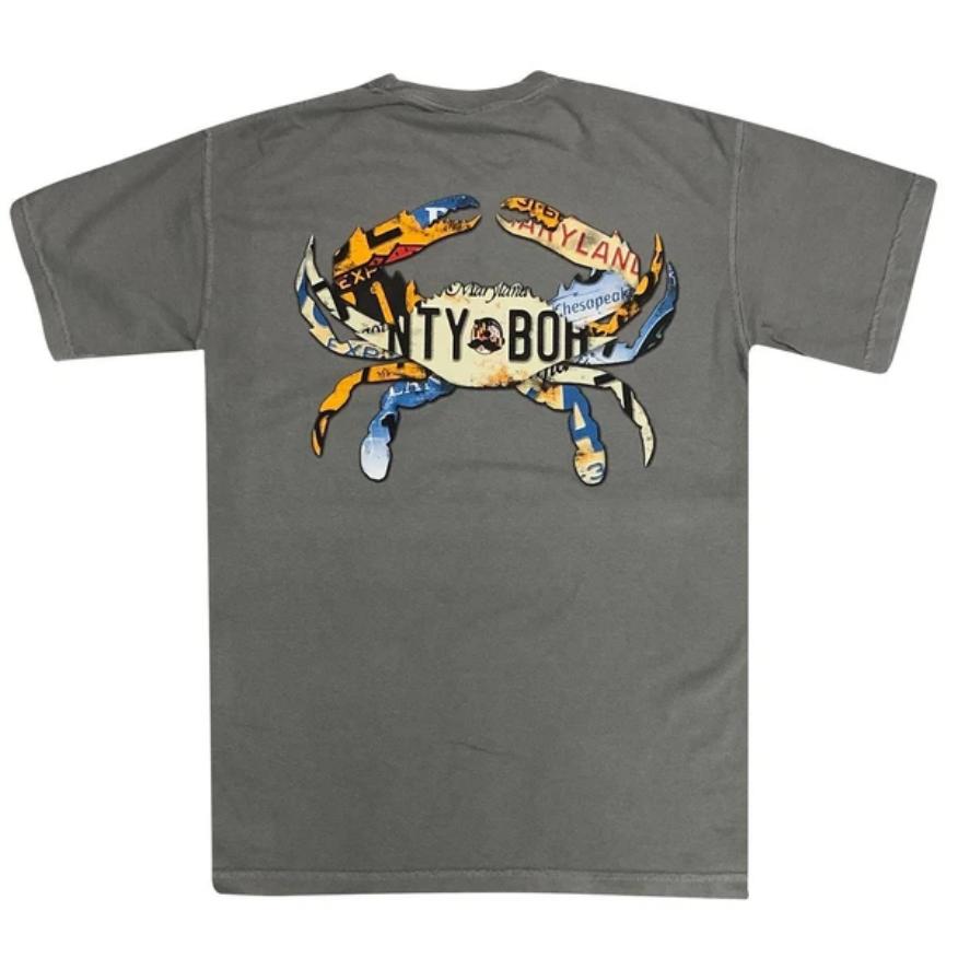 Natty Boh License Plate Crab Shirt