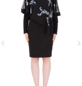 Black Dres W/Embroidered Overlay 183731