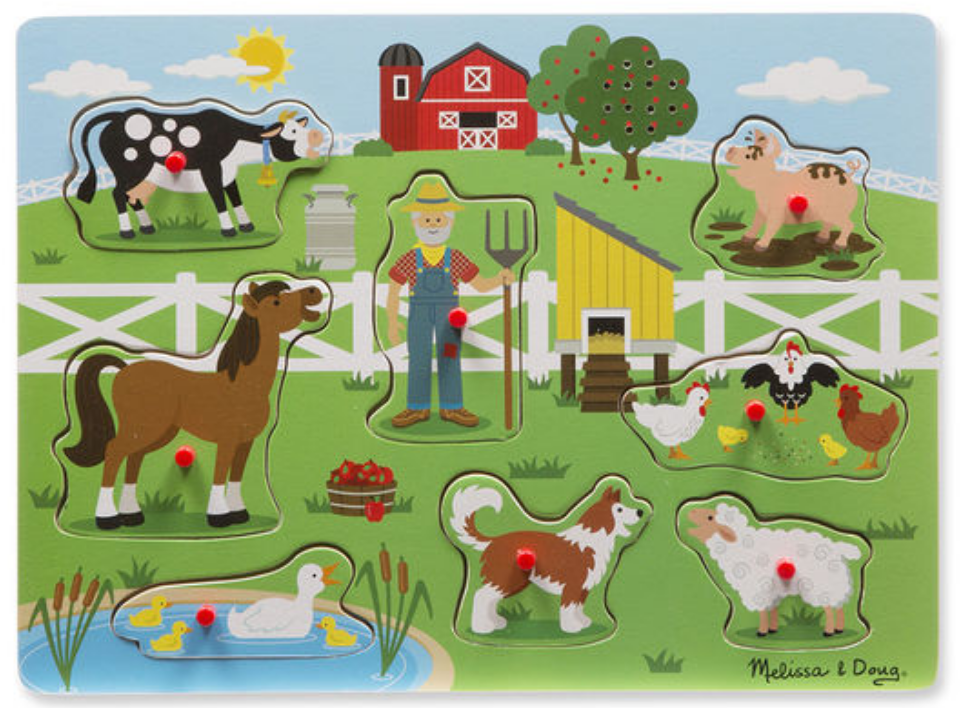 Melissa & Doug Old Macdonalds Farm Sound Puzzle