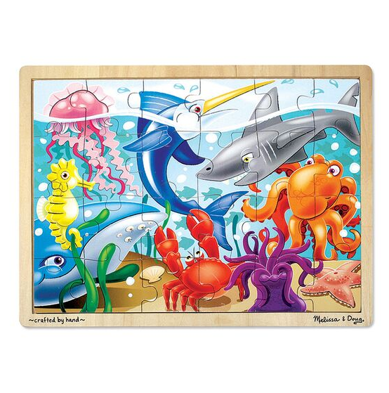 Melissa & Doug Jigsaw Puzzle (24pc)- Under the Sea