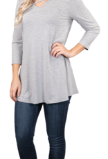 Simply Southern SS Solid Cross Tunic