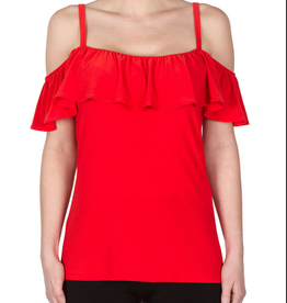 Ribbon Red Off Shoulder Blouse