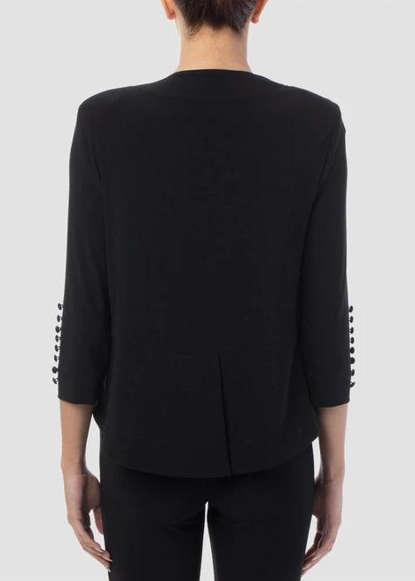 Black Hi-Low Bolero Jacket
