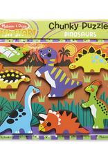 Melissa & Doug Chunky Puzzle- Dinosaurs