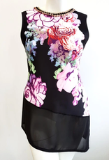 Floral Print Tunic W/ Gold Hoop Detail