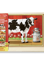 Melissa & Doug Puzzles in a Box- Farm Animals