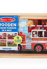 Melissa & Doug Puzzles in a Box- Vehicles