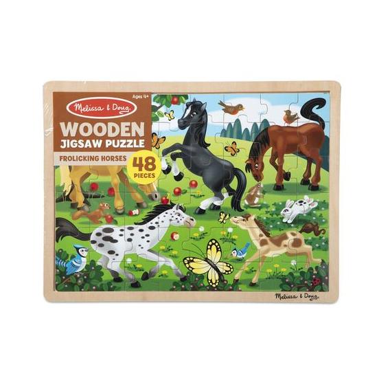 Melissa & Doug Jigsaw Puzzle (48pc)- Frolicking Horses