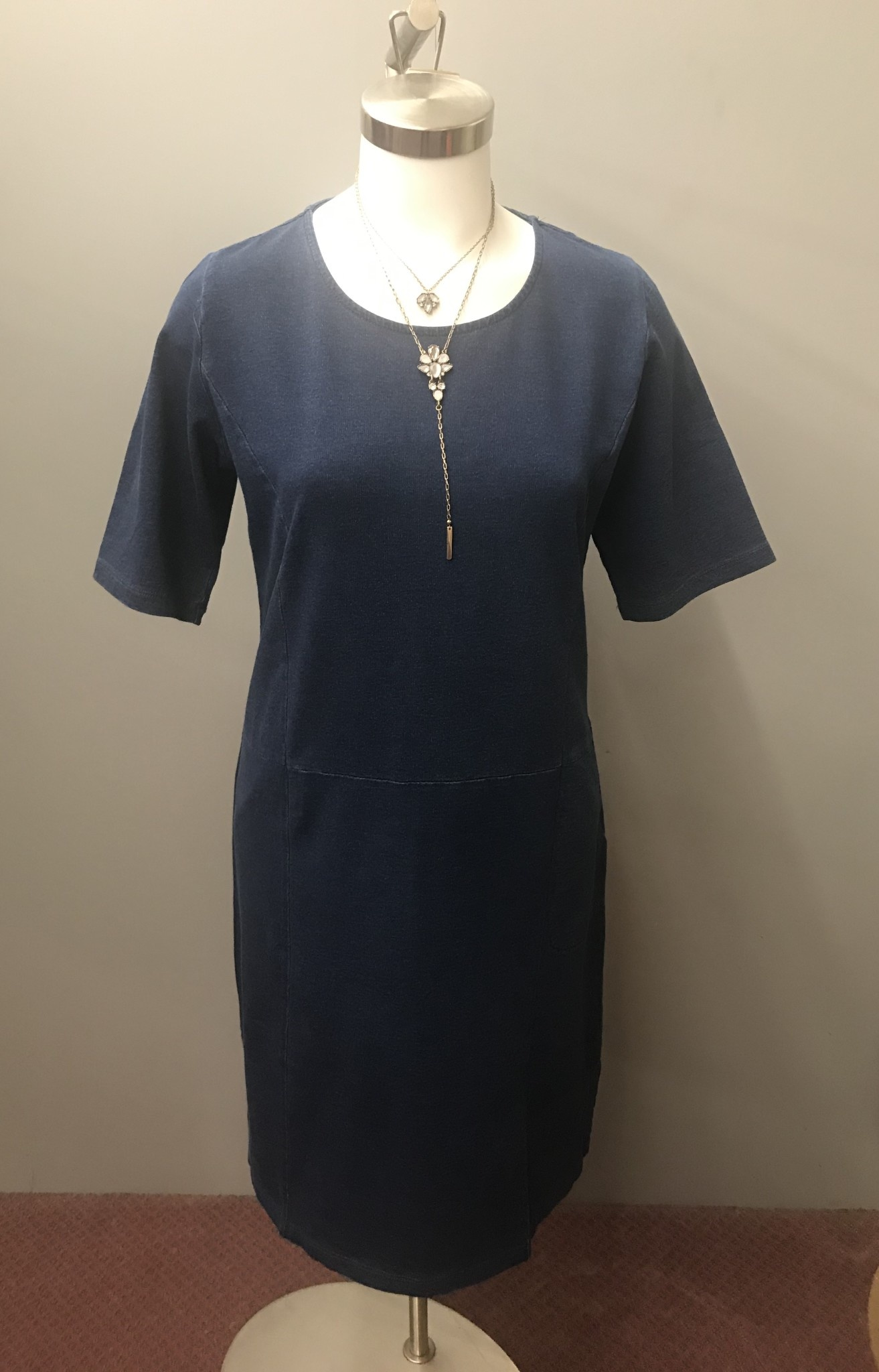 Elbow Sleeve Open Slit Dress