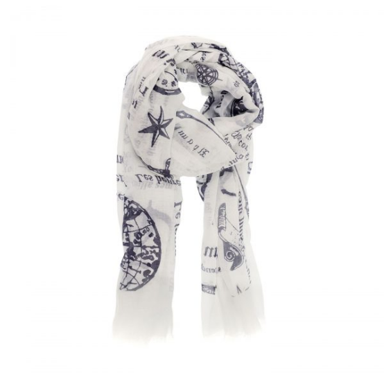 Nautical Motif Scarf
