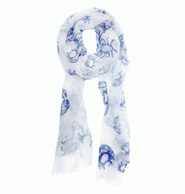 Crab Scarf Blue