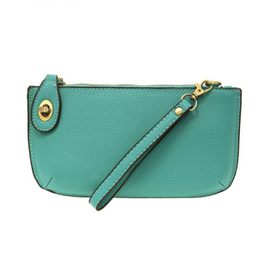 Mini Crossbody Wristlet Clutch - Mayan Green