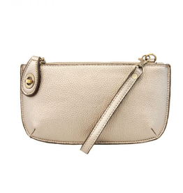 Mini Crossbody Wristlet Clutch - Metallic Pearl