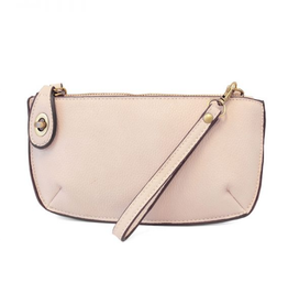 Mini Crossbody Wristlet Clutch - Eggshell Pink