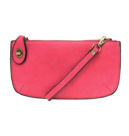 Mini Crossbody Wristlet Clutch - Fuscia