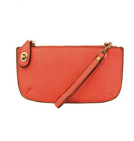 Mini Crossbody Wristlet Clutch - Coral