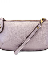 Joy Accessories by Joy Susan Mini Crossbody Wristlet Clutch - Metallic Pale Purple